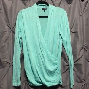 The Limited aqua XL wrap sweater top